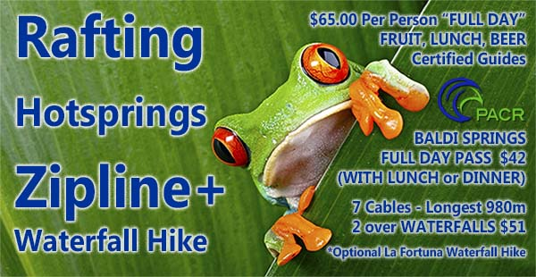 Adventure Tour Package Zipline Rafting Costa Rica