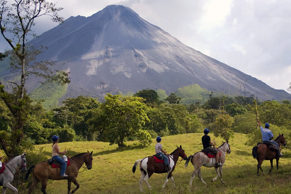 Horseback Riding at the base of the Arenal Volcano