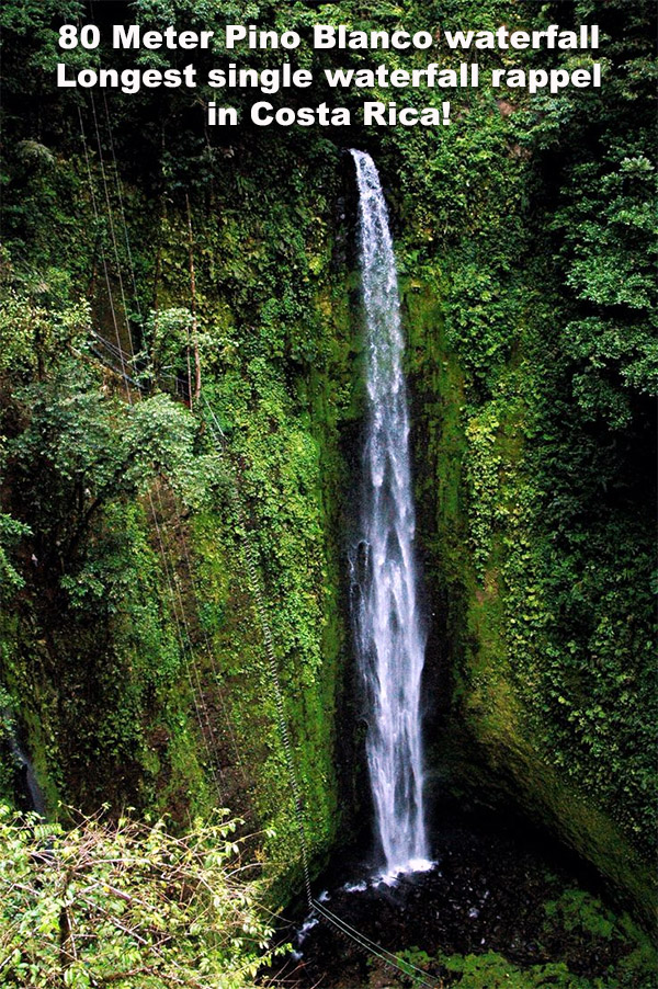 80 meter Pino Blanco Waterfall Costa Rica