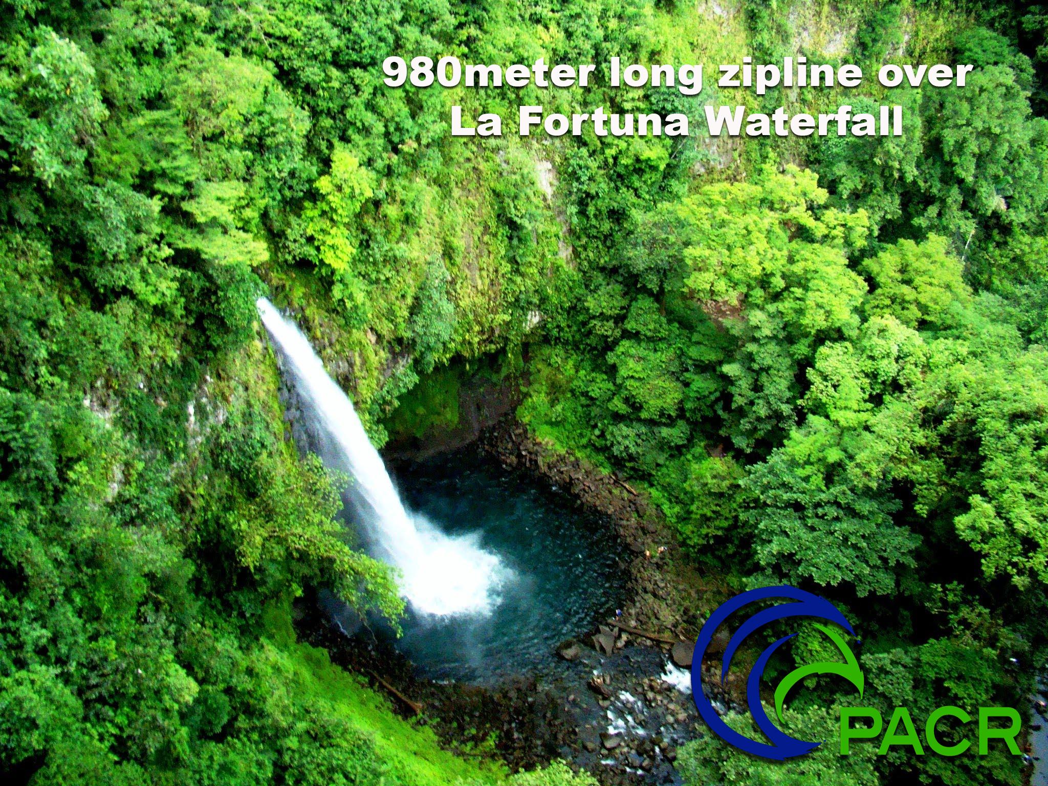 Zipline over waterfalls in Costa Rica & Zipline Canopy Tour over Waterfalls package zipline w/ Rappelling ...