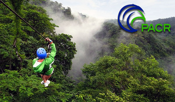 Zipline tour over Waterfalls and Tropical canopy